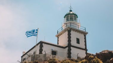 De vuurtoren van Akrotiri (Faros lighthouse)
