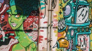 Street art in de wijk Florentin