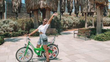 fiets of elektrische step in Tel Aviv