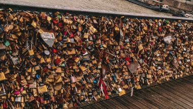 de Pont de l'Archevêché (slotjesbrug)