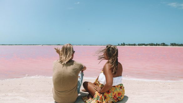 Roze meren van Las Coloradas