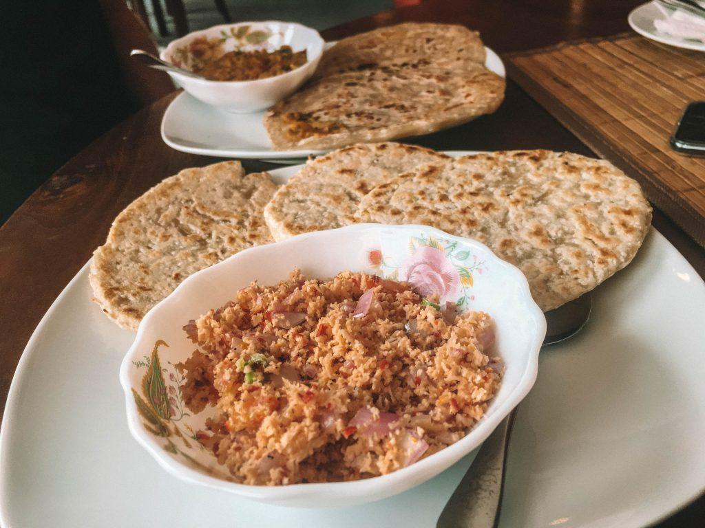 Roti and cocos sambal