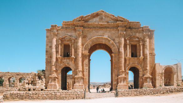 Ruïnes of Jerash - Arch of Hadrian