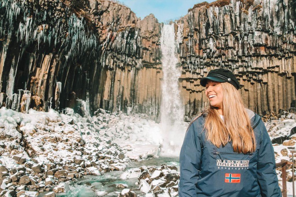 Svartifoss waterfall Hofn